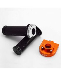 "NCY Throttle & Grip Set (Bearing Style, 7/8"") - Orange"