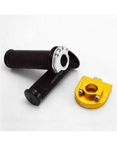"NCY Throttle & Grip Set (Bearing Style, 7/8"") - Golden"