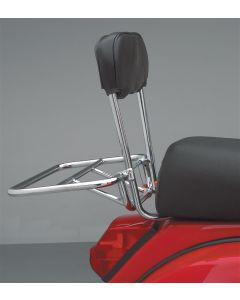 Cuppini Rear Rack (Folding, w/Backrest, Chrome)