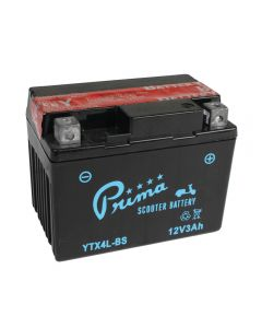 Battery - Prima (12V TX4L-BS); Kymco Cobra, ET2, Genuine 50cc