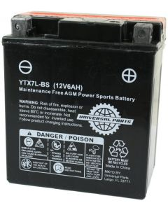 Battery - 12V 6AH  - YTX7L-BS