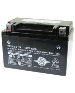 Battery - 12V 8.5AH  - YTX9-BS (Factory Activated)